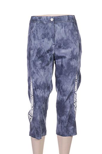 jean delfin pantacourts femme de couleur bleu