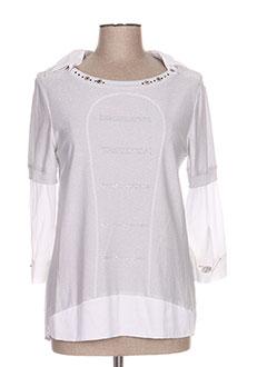 T-shirt manches longues gris DANIELA DALLAVALLE pour femme