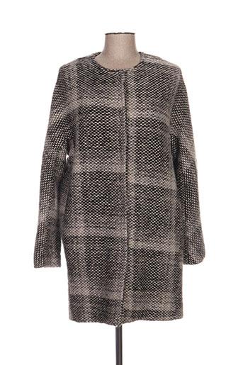 Manteau long gris LAUREN VIDAL pour femme