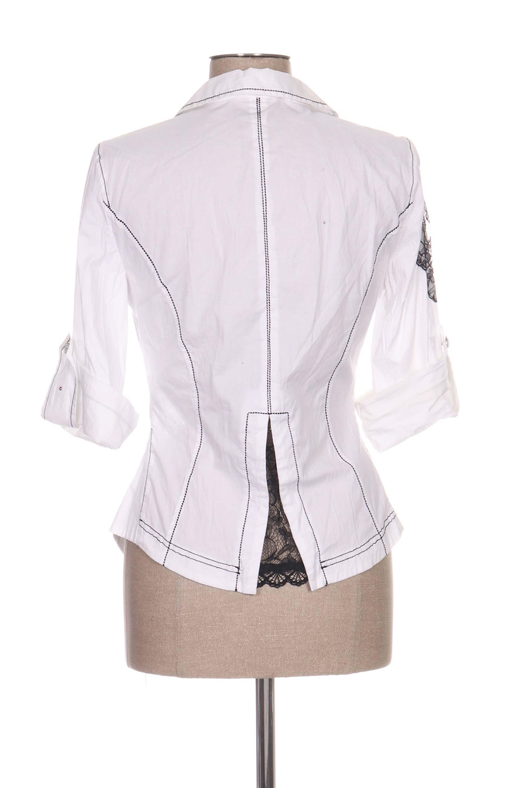 Daniela Dallavalle Chemisiers Manches Longues Femme De Couleur Blanc En Soldes Pas Cher 1166278-blanc0