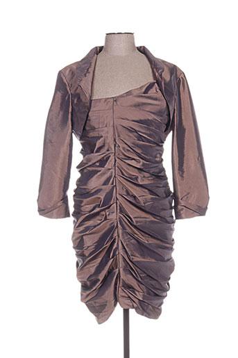 Veste/robe marron FASHION NEW YORK pour femme