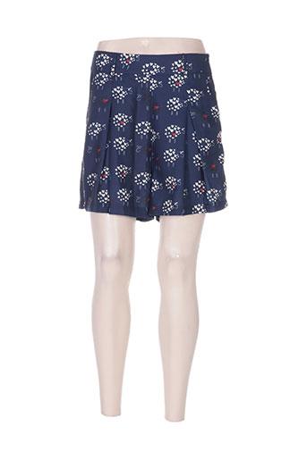 missing johnny shorts / bermudas femme de couleur bleu