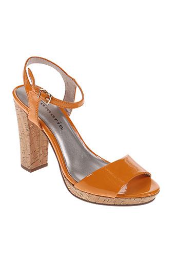 tamaris chaussures femme de couleur orange