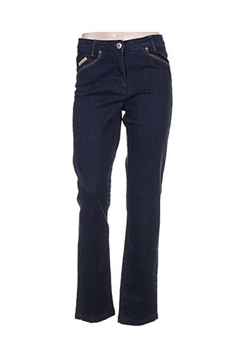 thalassa jeans femme de couleur bleu