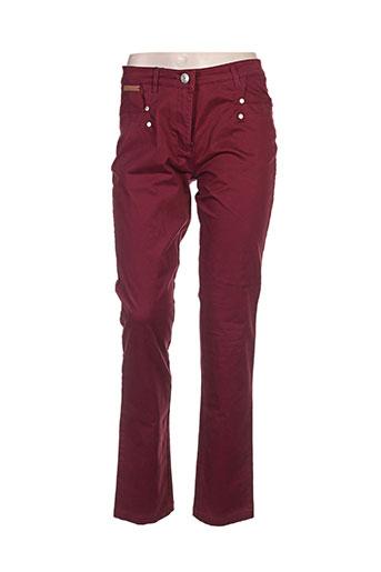 thalassa jeans femme de couleur rouge