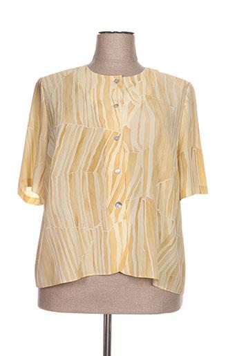 francoise de france chemises femme de couleur jaune