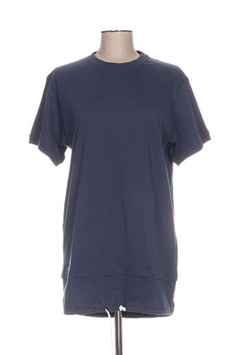 Tunique manches courtes bleu BLOTTER ATELIER pour femme