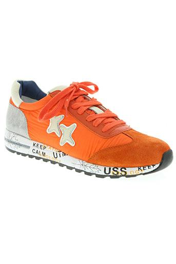 coco et abricot chaussures femme de couleur orange