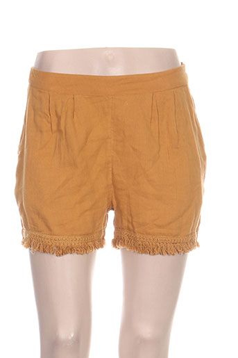teddy smith shorts / bermudas femme de couleur orange