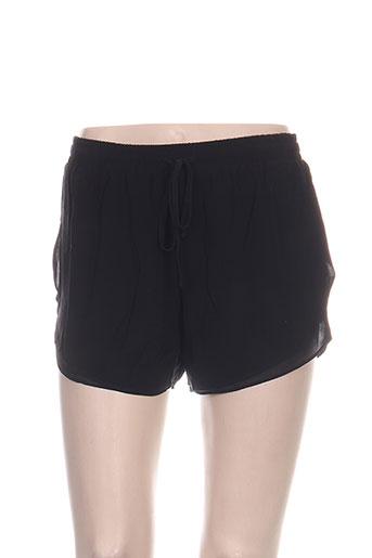 teddy smith shorts / bermudas femme de couleur noir