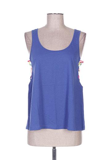 banana moon t-shirts femme de couleur bleu