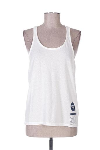 roxy girl t-shirts femme de couleur blanc