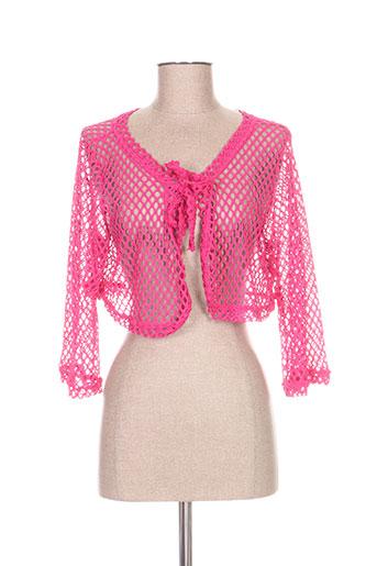 franck anna vestes femme de couleur rose