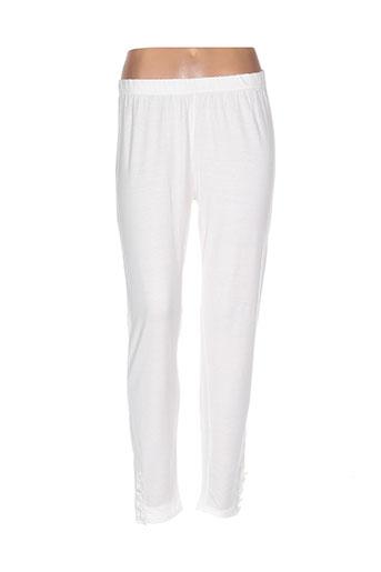 replace pantalons femme de couleur blanc
