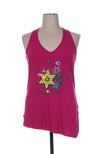 biluzik t-shirts femme de couleur violet