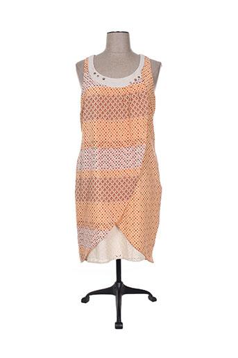 enjoy robes femme de couleur orange