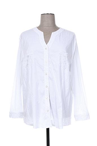 kjbrand chemises femme de couleur blanc