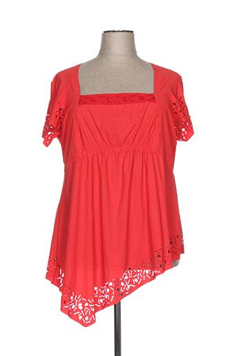 my square tuniques femme de couleur rouge