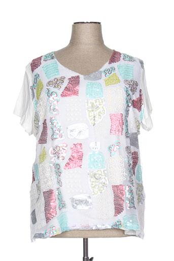 telmail chemises femme de couleur blanc