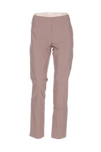 stark pantalons femme de couleur marron
