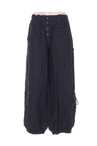 arthurio lino pantalons femme de couleur noir