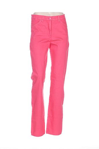 sbelt jeans pantalons femme de couleur rouge