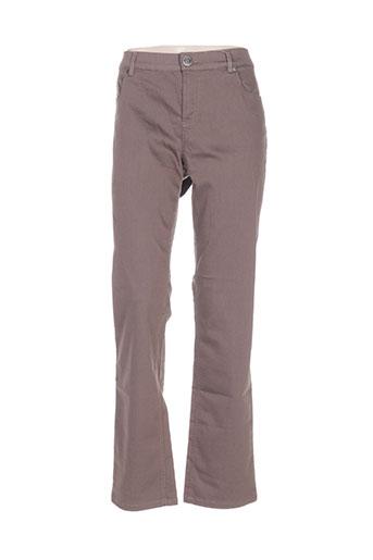 enjoy pantalons femme de couleur marron