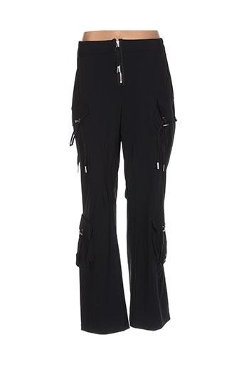 my square pantalons femme de couleur noir
