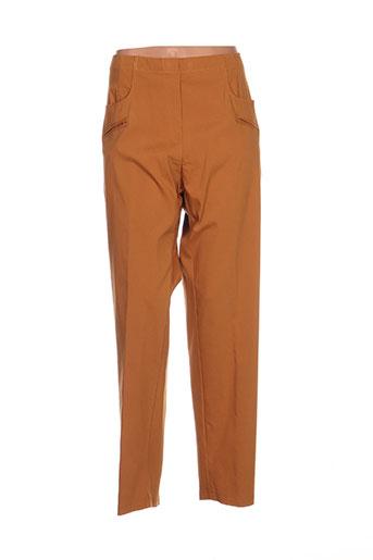 jean marc philippe pantalons femme de couleur marron