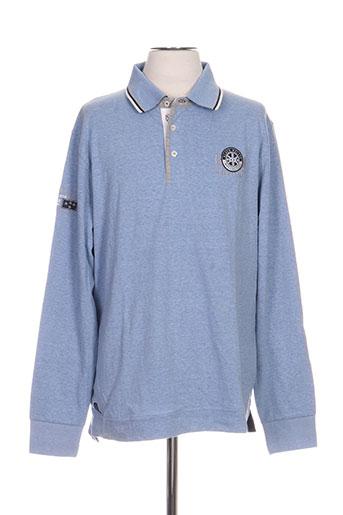 black wellis t-shirts homme de couleur bleu
