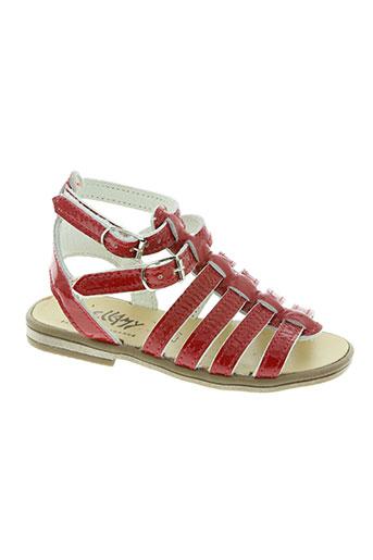 belamy chaussures fille de couleur rouge
