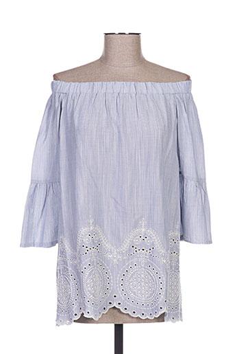 jad chemises femme de couleur bleu