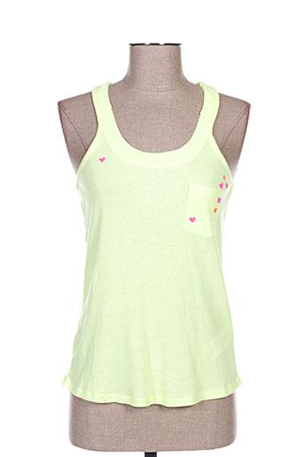 little marcel t-shirts femme de couleur jaune