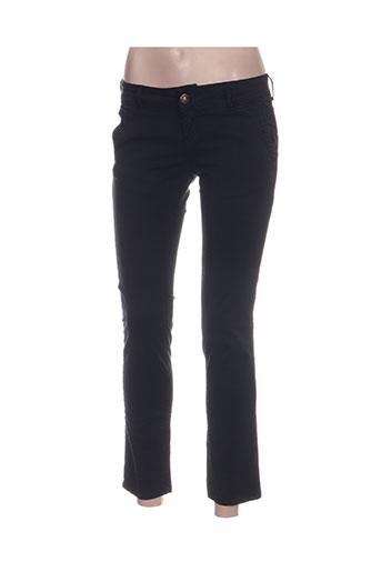 dn.sixty seven pantalons femme de couleur bleu
