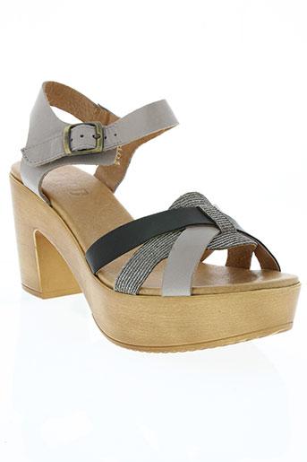 mkd chaussures femme de couleur gris