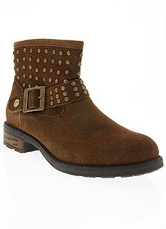 Bottines/Boots marron LES P'TITES BOMBES pour femme