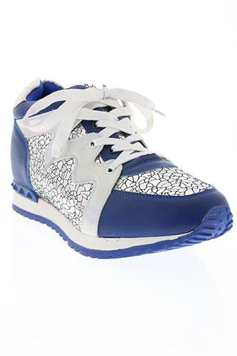 j&j shoes chaussures unisexe de couleur bleu
