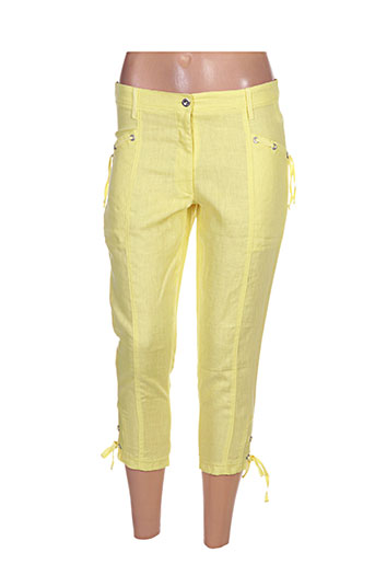 maloka pantacourts femme de couleur jaune