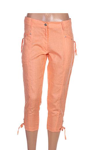 maloka pantacourts femme de couleur orange