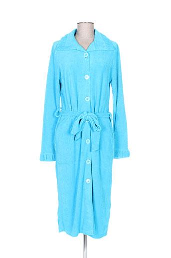 cherie line nuit femme de couleur bleu