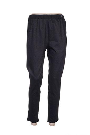 plurielles pantalons femme de couleur noir