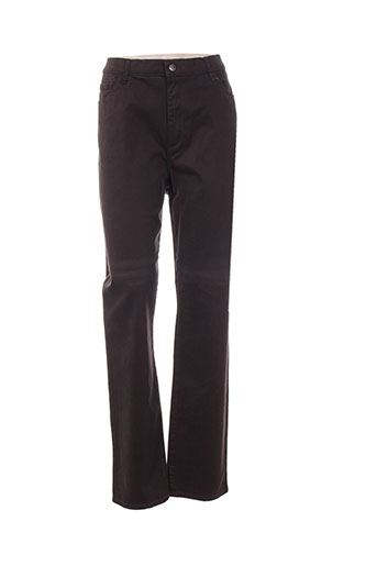 gevana pantalons femme de couleur marron