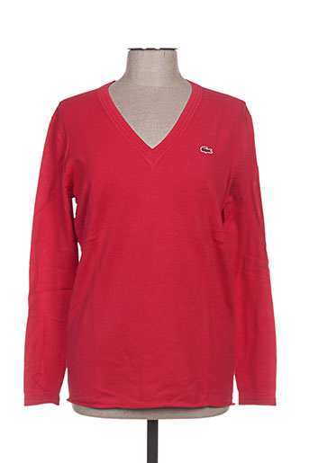 lacoste pulls femme de couleur rouge