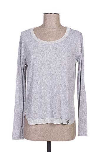 blanc boheme t-shirts femme de couleur gris