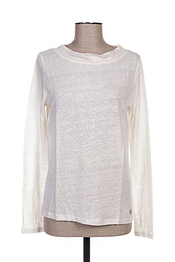 blanc boheme t-shirts femme de couleur beige
