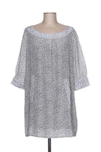 blanc boheme robes femme de couleur gris