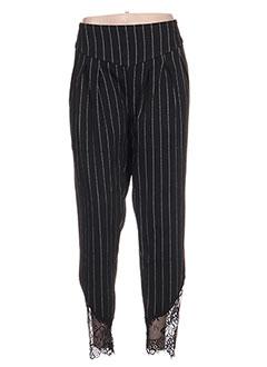 Pantalon casual noir ZOE LA FEE pour femme