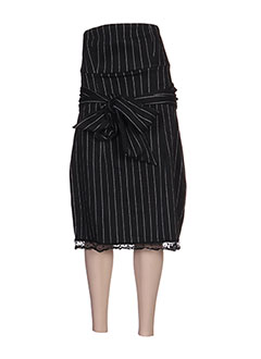 Robe courte noir ZOE LA FEE pour femme