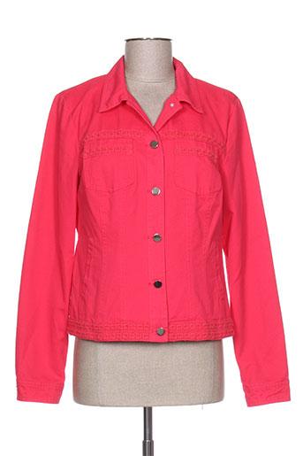 escandelle vestes femme de couleur rouge