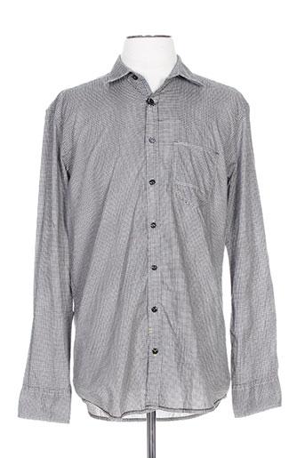 calamar chemises homme de couleur gris